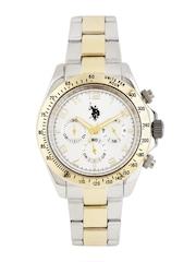 U.S. Polo Assn. Men Silver-Toned Chronograph Watch USAT0118