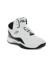 FILA Men White & Black Montana Plus Basketball Shoes