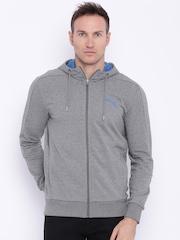 Puma Grey Melange Hero FZs Hooded Sporty Jacket