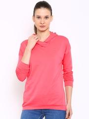 Puma Coral Pink Hooded Sweatshirt