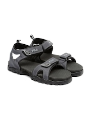 FILA Men Charcoal Grey Teofila Sports Sandals