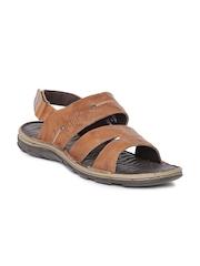 Lee Cooper Men Brown Leather Sandals