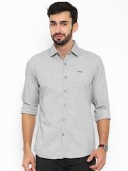 Wrangler Grey Slim Fit Casual Shirt