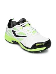 Jazba Men White & Green Skydrive 115 Cricket Shoes