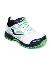 Jazba Men White & Green Skydrive 110 Cricket Shoes