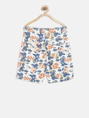 Nauti Nati Boys Blue Printed Shorts