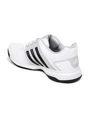 Adidas Unisex White & Grey Tennis Shoes