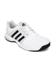 Adidas Unisex White & Grey Tennis Shoes