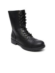 Steve Madden Women Black Flat Boots