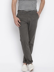 Fame Forever by Lifestyle Men Grey Regular Fit Chino Trousers