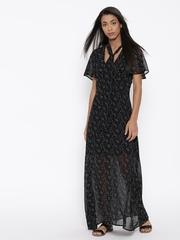 FOREVER 21 Women Black Printed Maxi Dress