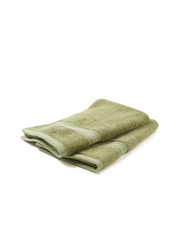 Trident Set of 2 Olive Green Cotton 650 GSM Hand Towels
