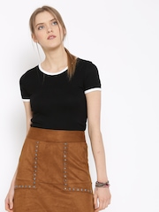 FOREVER 21 Women Black Solid Top