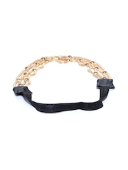Blueberry Gold-Toned Chain Hairband