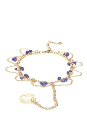 Blueberry Set of 2 Beaded Toe-Ring Anklets