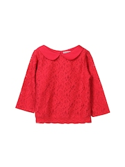 Beebay Girls Red Lace Regular Top