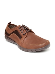 Hush Puppies Men Brown Solid Leather Derbys