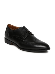 Hush Puppies Men Black Leather Brogues