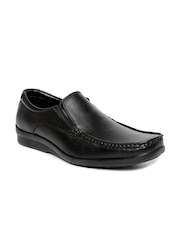 Bata Men Black Scale Square-Toed Semiformal Slip-Ons