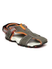 Bata Men Grey Flash Sandals