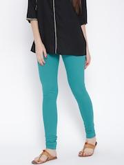 W Turquoise Blue Churidar Leggings
