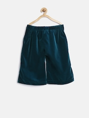 United Colors of Benetton Girls Green Solid Shorts