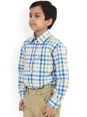 Oxolloxo Boys Multicoloured Classic Fit Checked Casual Shirt
