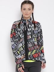 Reebok Multicoloured RE WND P1 Printed Slim Running Jacket