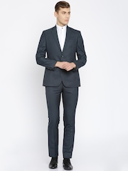 Park Avenue Navy Single-Breasted Slim Fit Two-Piece Formal Suit