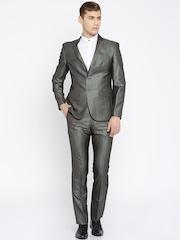 Park Avenue Charcoal Grey Super Slim Fit Formal Suit