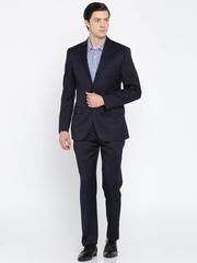 Park Avenue Navy Slim Fit Formal Suit