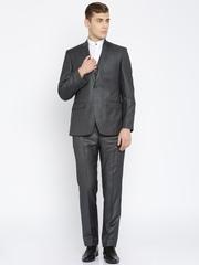 Park Avenue Grey Single-Breasted Slim Fit Formal Suit