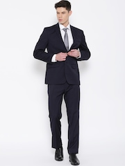 Park Avenue Navy Slim Fit Single-Breasted Formal Suit
