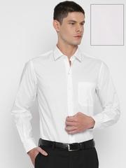 John Players Men White Slim Fit Solid Formal Shirt