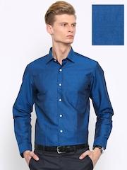 Arrow Men Blue Regular Fit Solid Formal Shirt