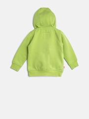 Baby League Girls Lime Green Applique Hooded Sweatshirt