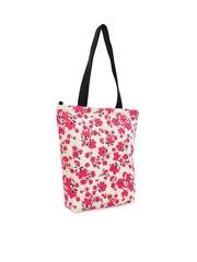 Lemon Trunk White & Pink Floral Print Tote Bag