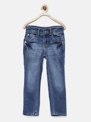Gini and Jony Boys Blue Regular Fit Mid-Rise Jeans