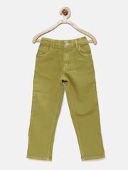 Gini and Jony Boys Khaki Regular Fit Mid-Rise Jeans