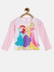 Disney by Kidsville Girls Pink Printed T-Shirt