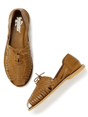 Roadster Women Brown Interwoven Flat Shoes