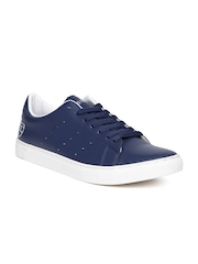 Numero Uno Men Navy Perforated Sneakers