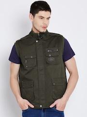 Duke Stardust Olive Green Sleeveless Tailored Jacket