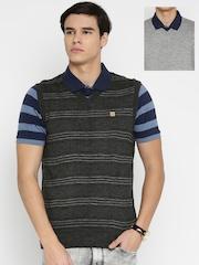 Duke Men Grey Sleeveless Reversible Sweater