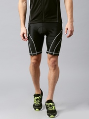 HRX by Hrithik Roshan Men Black Solid Active Cycling Shorts