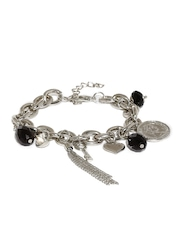 Tipsyfly Silver-Toned Charms Bracelet
