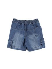 Lilliput Boys Blue Solid Regular Fit Denim Shorts
