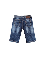 Lilliput Boys Blue Washed Regular Fit Denim Shorts