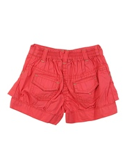 Lilliput Girls Red Solid Regular Fit Shorts