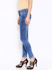 Deal Jeans Women Blue Slim Fit Mid-Rise Clean Look Jeans